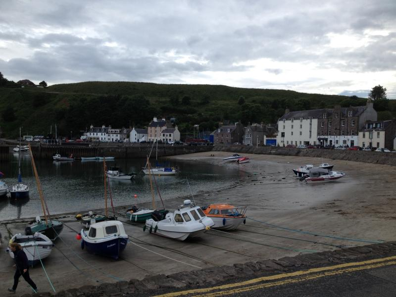 Stonehaven harbour at low tide