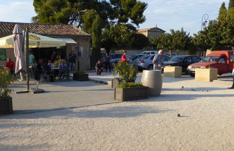Petanque at our local bar (5 minutes walk)