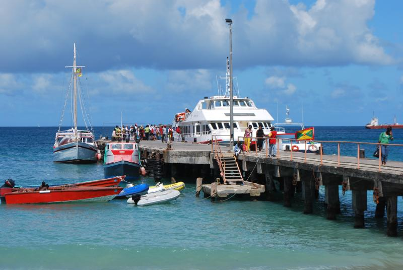 The jetty in Hillsborough Carriacou.