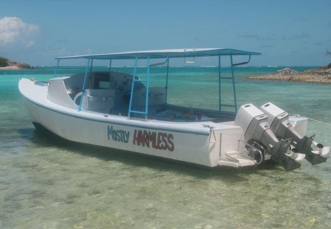 One of the boats we do trips with to Tobago Cays.