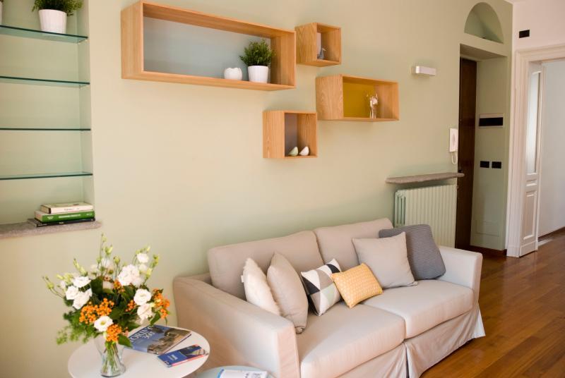 Wohnzimmer mit Sofa-Bett