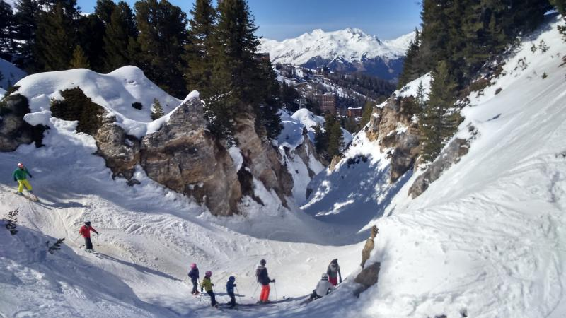 One of many Fun Twisting Canyons in La Plagne