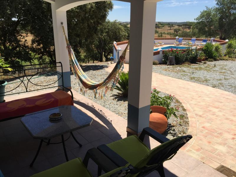 View from the Patio to the Pool Photo 1