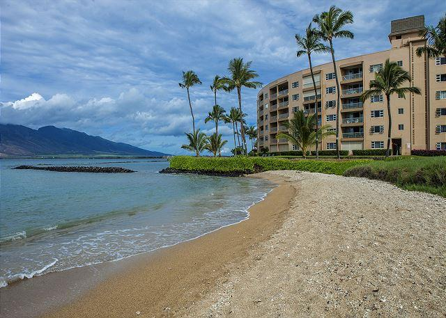 The beach in front of Menehune Shores