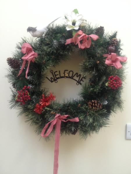 House fully decorated for Christmas and New Year bookings