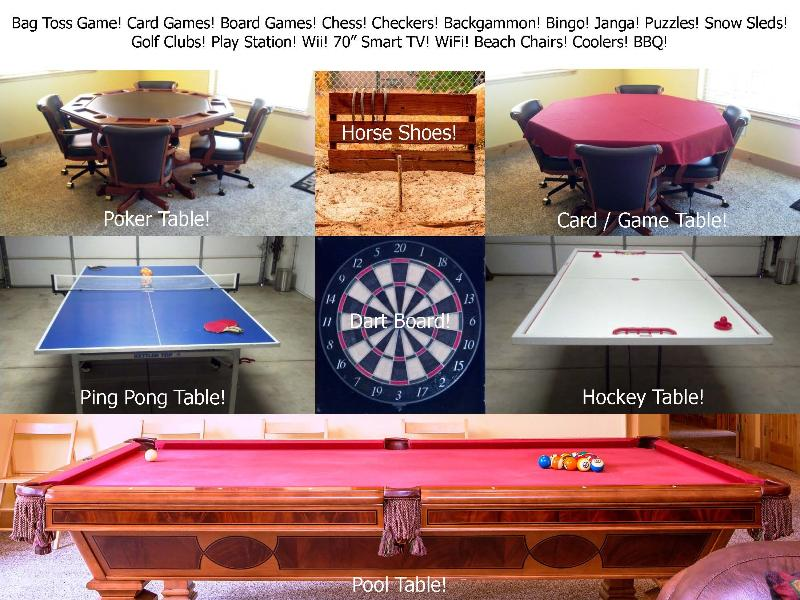 5 Star Luxury Tahoe Cabin Pool Table Darts Ping Pong