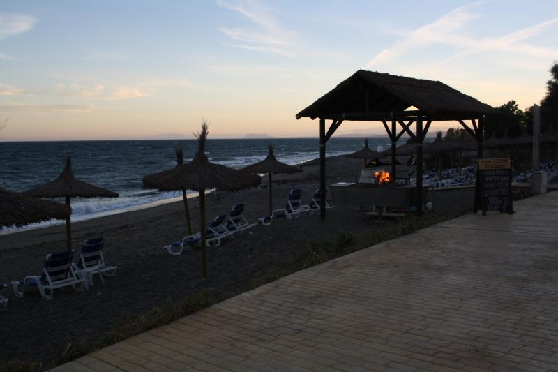Barbeque on the beach by the beach restaurant