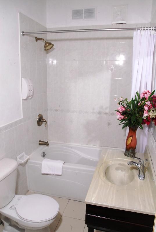 En-suite bathroom in 2-bedroom suite