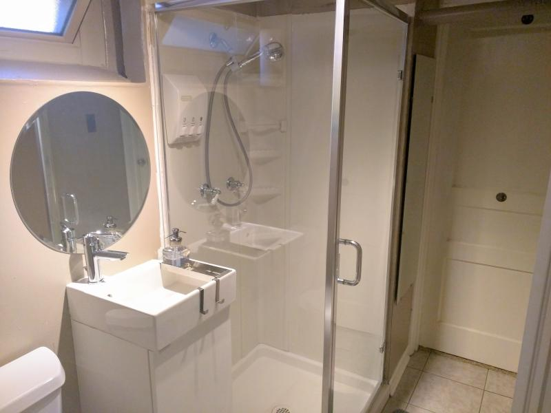 Modern Bath-Hair Dryer Included!