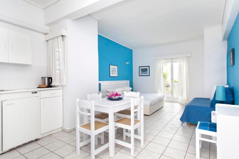 Appartement Studio, coin cuisine & lit