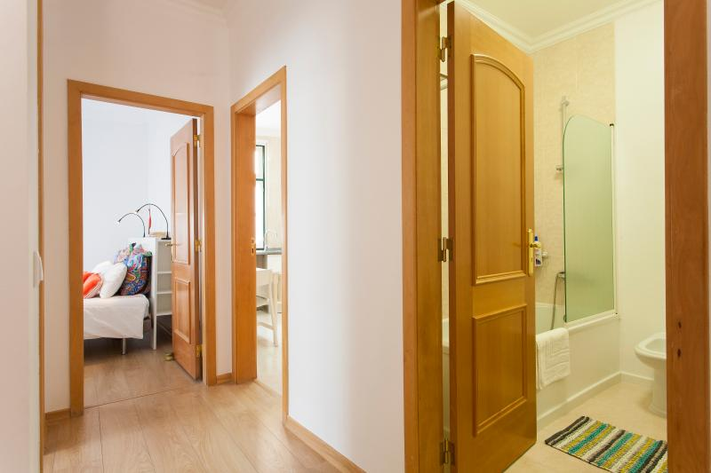 Corridor - wc, kitchen and rooms