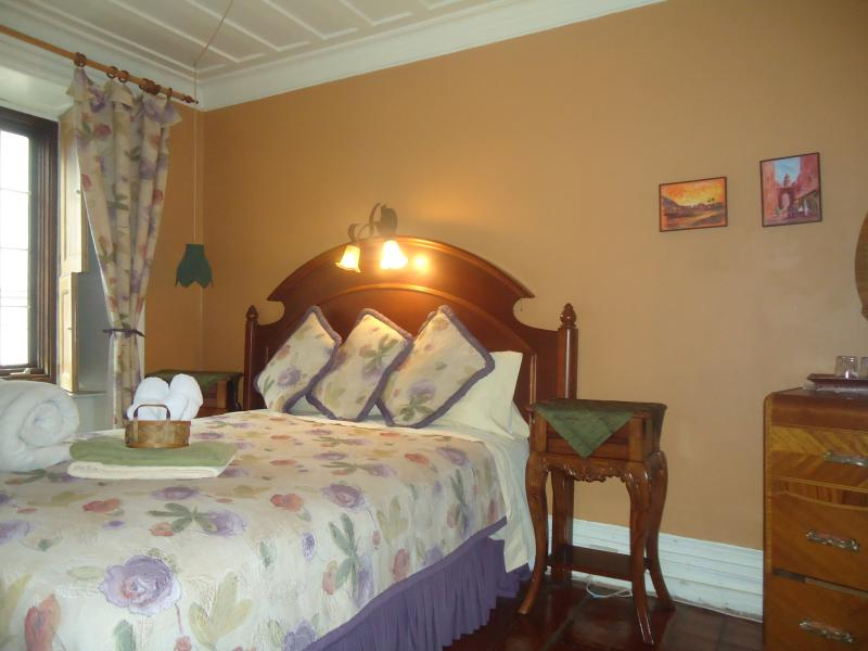 Bella bedroom, double bed, bathroom shared with another room only, hearty breakfast