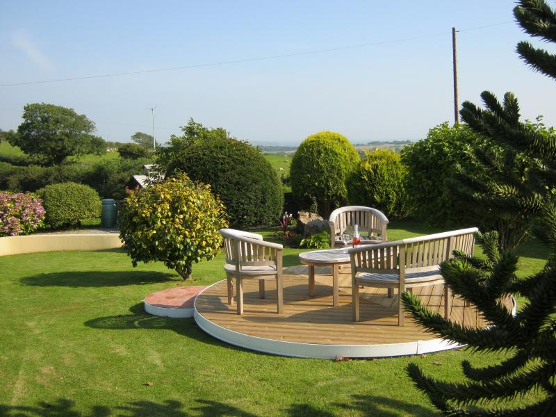sit and enjoy views to the sea  on a sunny day in September 2015