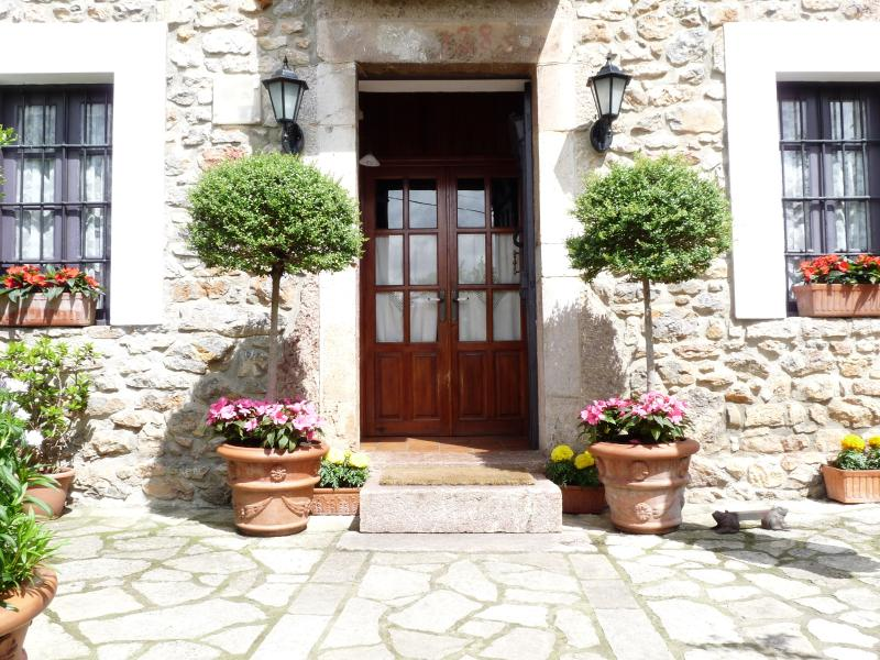 Main entrance to the House from the garden.