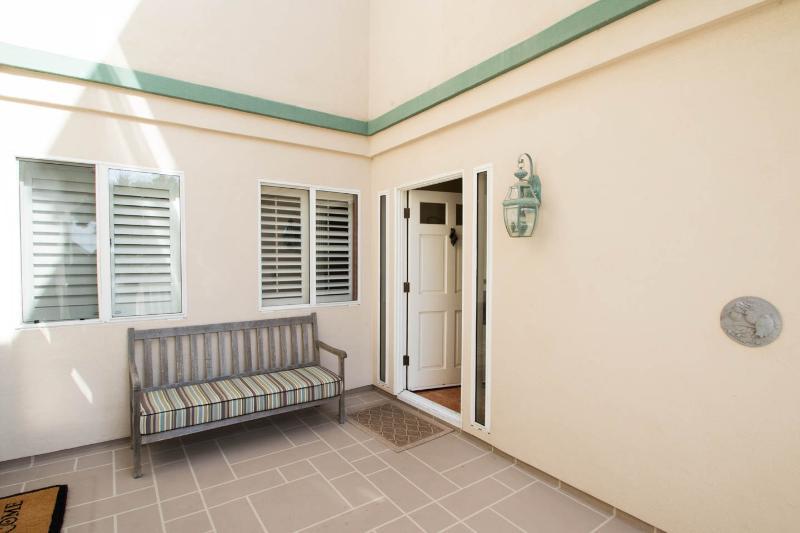 Porch at front door