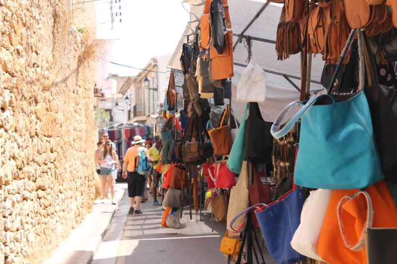 The local Santanyi market day