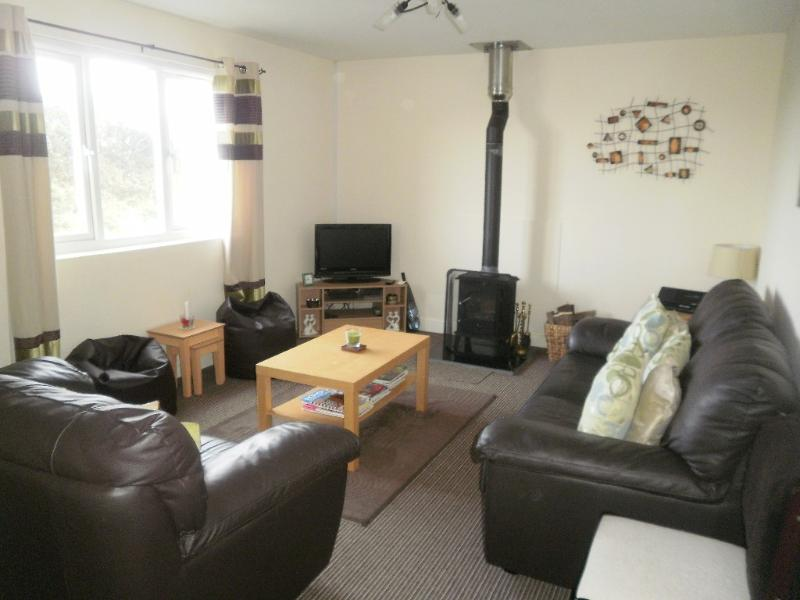 Southerness cottage rental - living room including sofa bed