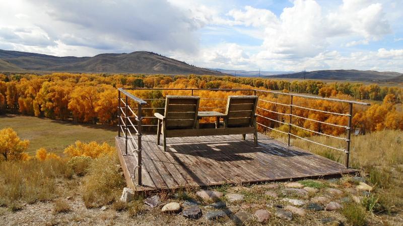 La cubierta del mirador - el valle del río Colorado - hermosa!!!