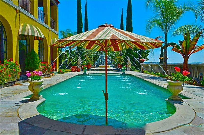 Dramatic piscine. style fontaine classique.