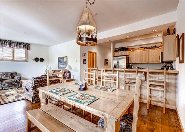 Corral Dining Area Breckenridge Lodging Vacation Rentals