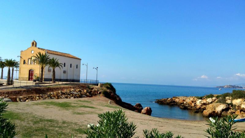 Isla Plana church and bay