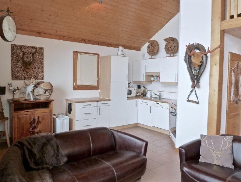 Open plan living area and kitchen