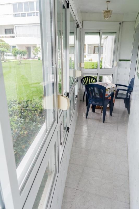 enclosed patio area in apartment