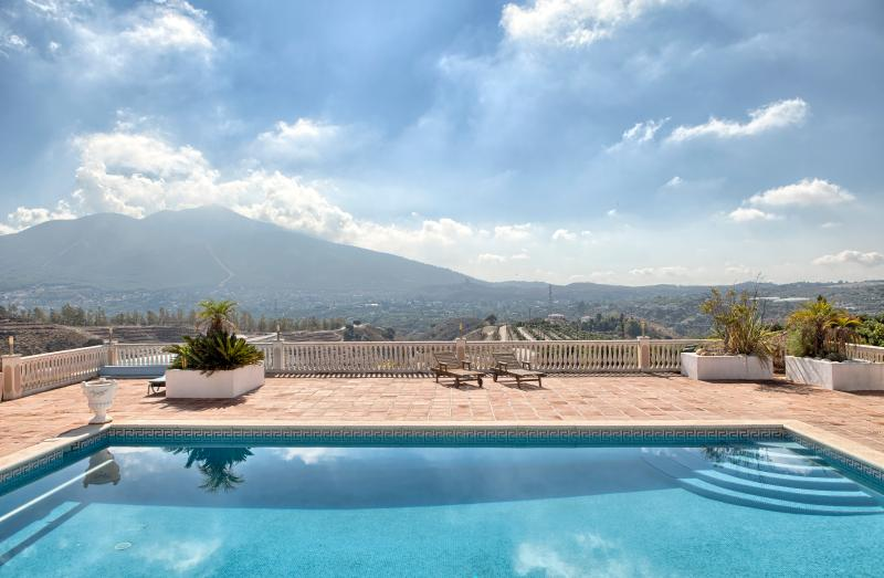 Views of the mountains looking directly to the South of the pool terrace  with superb peaceful air