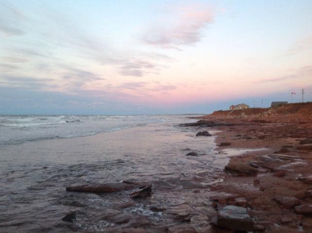 BELOW COTTAGE - SANDY BEACH AROUND THE POINT