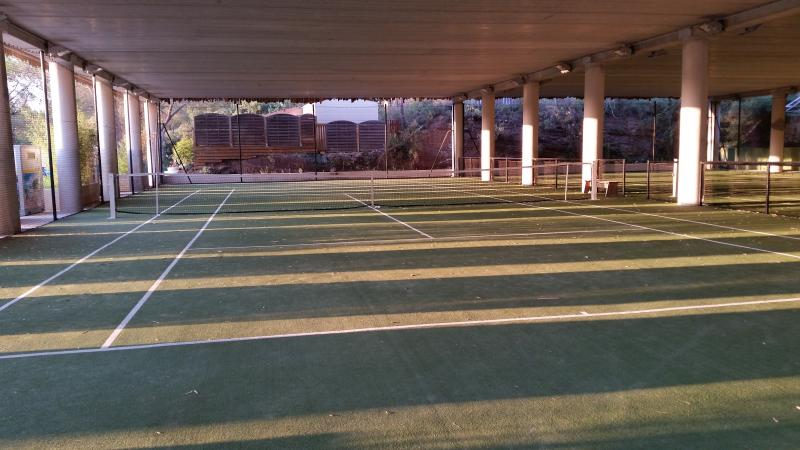 Holiday Green Tennis Court