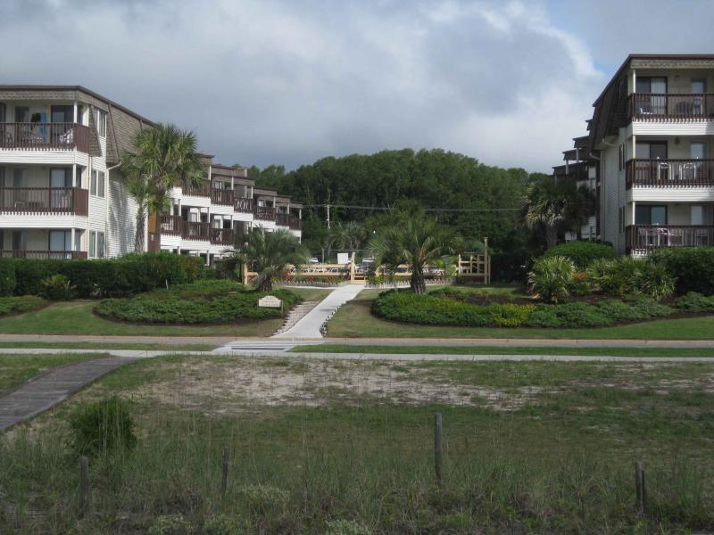 View of Condos From The Beach
