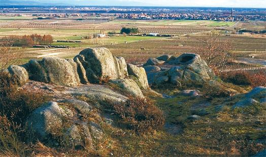 Le Rocher des Celtes, lieu mythique au dessus de Dieffenthal.