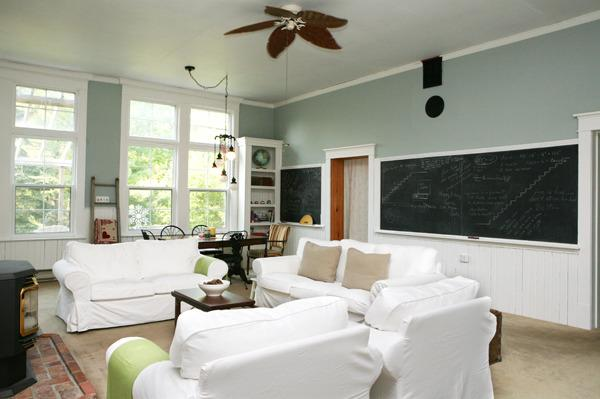 Original Chalk Board in Spacious Living/Dining Room