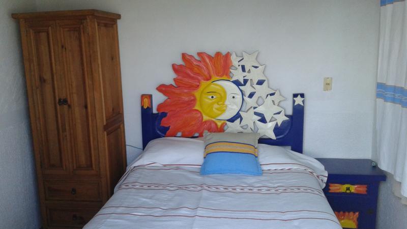 bed in second bedroom