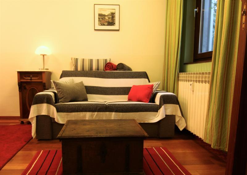 Sofa by the window
