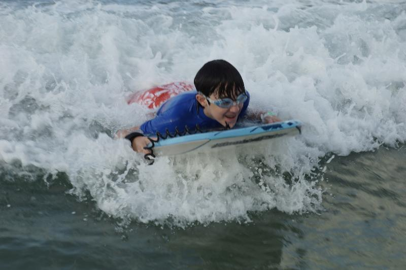 My Grandson withhis boggie board