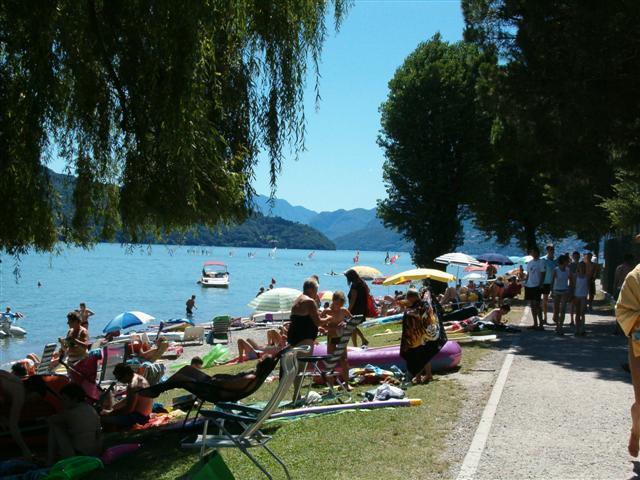 Lake como Domaso Beach