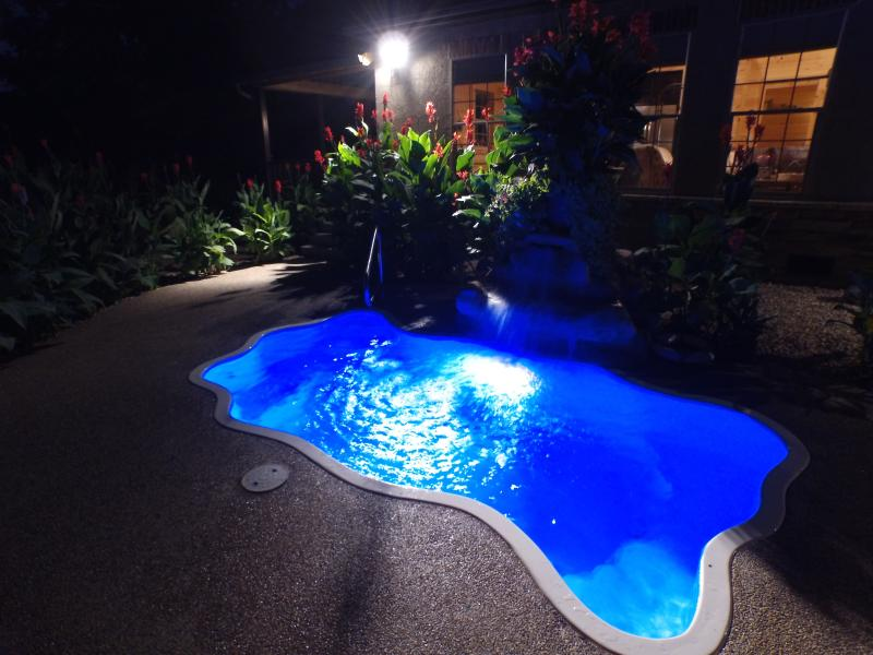 Your very own private pool that doubles as the areas largest in ground hot tub reaching 103*