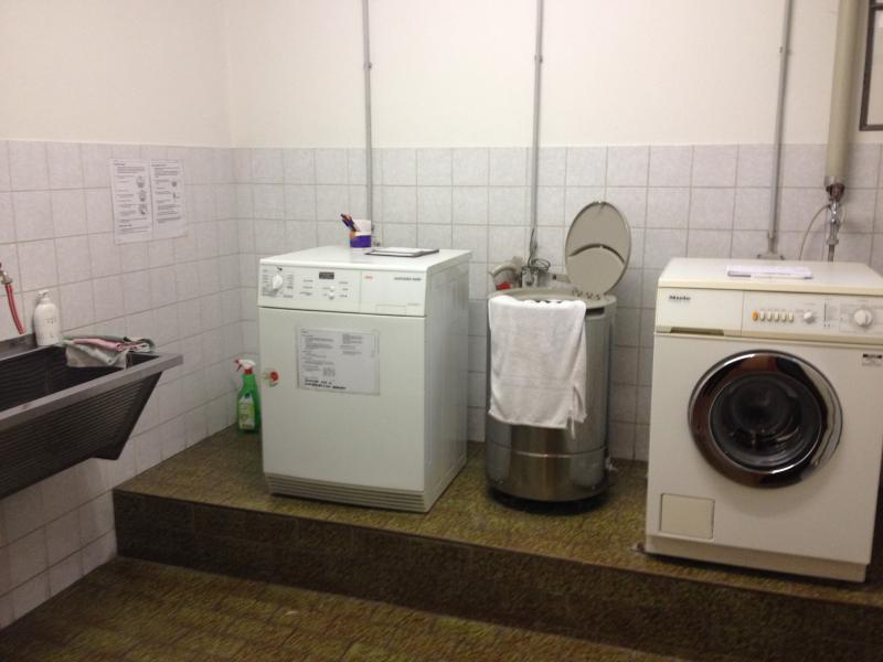 Washine Machine and Dryer in the Cellar. Usable 50cent/Wash for all tenants