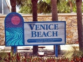Venice Beach sur l'île de Venise