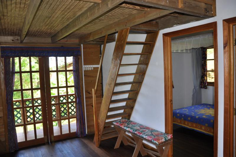Stairs to mezzanine (3rd bedroom).