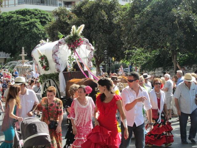 The Romeria Celebrations held in September. Display of Spanish horsemen and wagons.