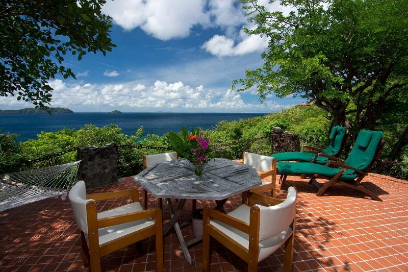 South deck overlooking the Caribbean Ocean