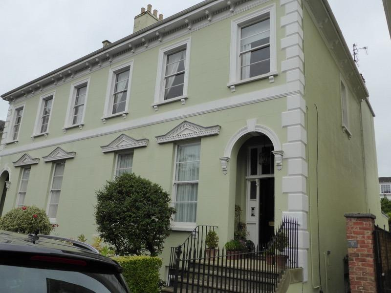 Grade Two listed house, Garden Flat. Private entrance from own courtyard. Extremely quiet road.