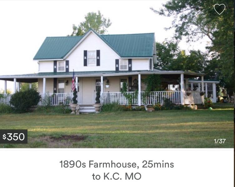1852  Farmhouse built before KS was a state in 1861, holiday rental in Louisburg