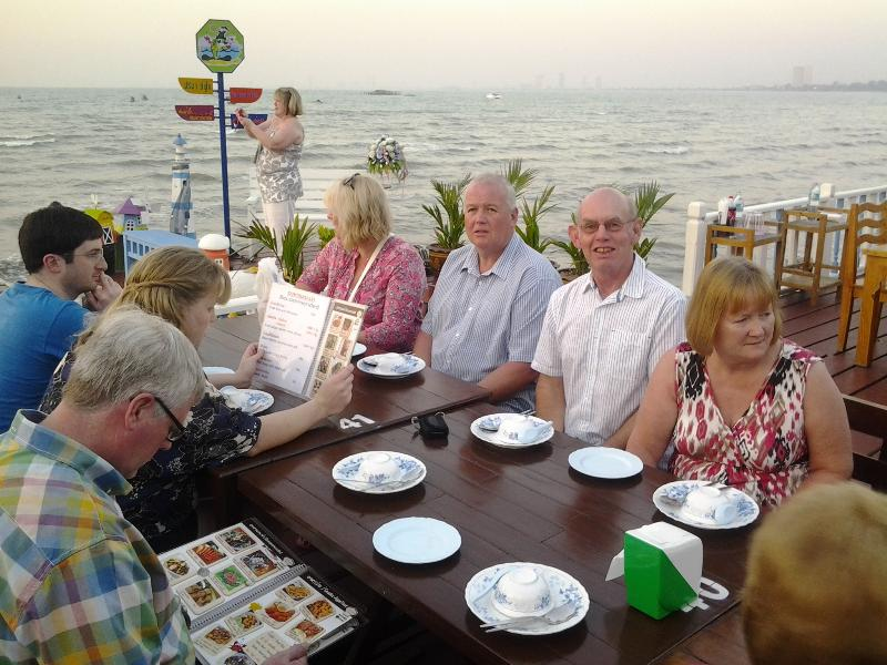 many restaurants on the sea