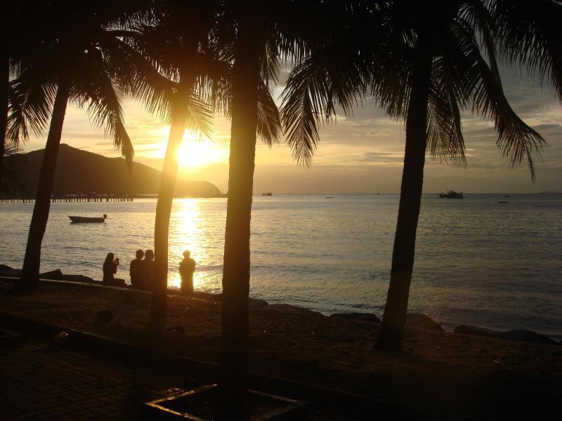 bang saray beach at sunset