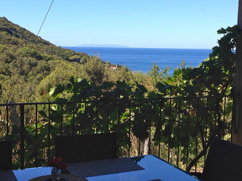 Bilocale per 5 persone con terrazza VISTA MARE, vacation rental in Rio Nell'Elba