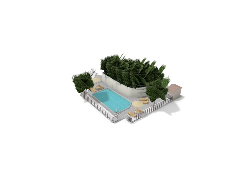 3D impression from private swimming pool