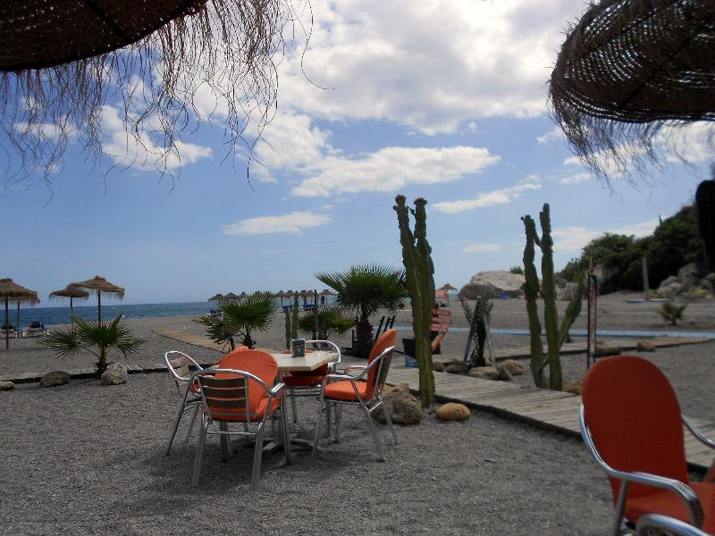 The local beach has two lovely chiringuitos (beach bars)
